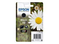 Epson 18 - 5.2 ml - svart - original - blekkpatron - for Expression Home XP-212, 215, 225, 312, 315, 322, 325, 412, 415, 422, 425 C13T18014012