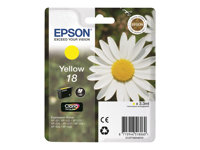 Epson 18 - Gul - original - blekkpatron - for Expression Home XP-212, 215, 225, 312, 315, 322, 325, 412, 415, 422, 425 C13T18044010