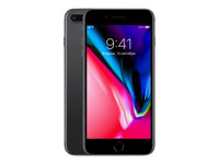 "Apple iPhone 8 Plus - Smartphone - 4G LTE Advanced - 256 GB - GSM - 5.5"" - 1920 x 1080 pixels (401 ppi) - Retina HD - 12 MP (7 MP-frontkamera) - romgrå MQ8P2QN/A"