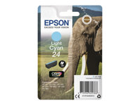 Epson 24 - 5.1 ml - lys cyan - original - blære med RF-alarm - blekkpatron - for Expression Photo XP-55, 750, 760, 850, 860, 950, 960; Expression Premium XP-750, 850 C13T24254022