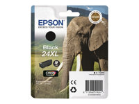 Epson 24XL - 10 ml - XL - svart - original - blære med RF/lyd-alarm - blekkpatron - for Expression Photo XP-55, 750, 760, 850, 860, 950, 960; Expression Premium XP-750, 850 C13T24314020