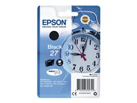 Epson 27 - 6.2 ml - svart - original - blære med RF/lyd-alarm - blekkpatron - for WorkForce WF-3620, WF-3640, WF-7110, WF-7610, WF-7620, WF-7715, WF-7720 C13T27014022