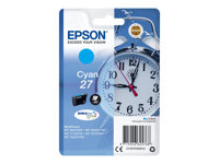 Epson 27 - 3.6 ml - cyan - original - blære med RF/lyd-alarm - blekkpatron - for WorkForce WF-3620, WF-3640, WF-7110, WF-7610, WF-7620, WF-7715, WF-7720 C13T27024022
