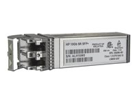 HPE - SFP+ transceivermodul - 10 Gigabit Ethernet - 10GBase-SR - LC multimodus - opp til 300 m - for HPE D2D4324; BLc3000 Enclosure; ProLiant DL360p Gen8, DL980 G7 455883-B21