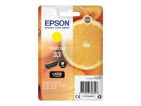 Epson 33 - 4.5 ml - gul - original - blære med RF/lyd-alarm - blekkpatron - for Expression Home XP-635, 830; Expression Premium XP-530, 540, 630, 635, 640, 645, 830, 900 C13T33444022