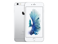 "Apple iPhone 6s Plus - Smartphone - 4G LTE Advanced - 128 GB - TD-SCDMA / UMTS / GSM - 5.5"" - 1920 x 1080 pixels (401 ppi) - Retina HD - 12 MP (5-MP frontkamera) - sølv MKUE2QN/A"