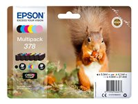 Epson Multipack 378 - 6-pack - svart, gul, cyan, magenta, lys magenta, lys cyan - original - blister - blekkpatron - for Expression Photo XP-8500, XP-8500 Small-in-One, XP-8505 C13T37884010