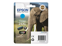 Epson 24XL - 8.7 ml - XL - cyan - original - blære med RF/lyd-alarm - blekkpatron - for Expression Photo XP-55, 750, 760, 850, 860, 950, 960; Expression Premium XP-750, 850 C13T24324020