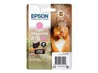 Epson 378XL - 10.3 ml - XL - lys magenta - original - blære med RF/lyd-alarm - blekkpatron - for Expression Photo XP-8500 Small-in-One C13T37964020