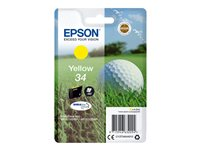 Epson 34 - 4.2 ml - gul - original - blære med RF/lyd-alarm - blekkpatron - for WorkForce Pro WF-3720DWF, WF-3725DWF C13T34644020