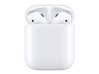 Apple AirPods - Ekte trådløse øretelefoner med mikrofon - ørepropp - Bluetooth - for 10.5-inch iPad Pro; 12.9-inch iPad Pro; 9.7-inch iPad (5th generation); 9.7-inch iPad Pro; iPad Air; iPad Air 2; iPad mini 2; 3; 4; iPhone 5, 5c, 5s, 6, 6 Plus, 6s, 6s Plus, 7, 7 Plus, 8, 8 Plus, SE, X; iPod touch (6G); TV 4K; Watch MMEF2ZM/A