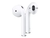 Apple AirPods with Charging Case - 2nd Generation - ekte trådløse øretelefoner med mikrofon - ørepropp - Bluetooth - for iPad/iPhone/iPod/TV/Watch MV7N2ZM/A