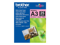 Brother BP - Matt - A3 (297 x 420 mm) - 145 g/m² - 25 ark papir - for Brother MFCJ6530, MFC-J6580, J6980, J6995; INKvestment Business Smart Pro MFC-J6935 BP60MA3