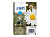 Epson 18 - 3.3 ml - cyan - original - blekkpatron - for Expression Home XP-212, 215, 225, 312, 315, 322, 325, 412, 415, 422, 425 C13T18024012