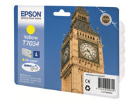 Epson T7034 - L-størrelse - gul - original - blister - blekkpatron - for WorkForce Pro WP-4015, WP-4025, WP-4095, WP-4515, WP-4525, WP-4535, WP-4545, WP-4595 C13T70344010