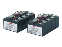 APC Replacement Battery Cartridge #12 - UPS-batteri - 2 x blysyre - svart - for P/N: DL5000RMT5U, SU5000R5TBX114, SU5000R5TBXFMR, SU5000R5T-TF3, SU5000R5XLT-TF3 RBC12