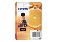Epson 33XL - 12.2 ml - XL - svart - original - blære med RF/lyd-alarm - blekkpatron - for Expression Home XP-635, 830; Expression Premium XP-530, 540, 630, 635, 640, 645, 830, 900 C13T33514022