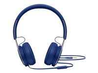 Beats EP - Hodetelefoner med mikrofon - on-ear - kablet - 3,5 mm jakk - lydisolerende - blå - for 10.5-inch iPad Pro; 12.9-inch iPad Pro; 9.7-inch iPad; 9.7-inch iPad Pro; iPad; iPad 1; 2; iPad Air; iPad Air 2; iPad mini; iPad mini 2; 3; 4; iPad with Retina display; iPhone 3G, 3GS, 4, 4S, 5, 5c, 5s, 6, 6 Plus, 6s, 6s Plus, SE; iPod classic; iPod nano; iPod shuffle (4G); iPod touch ML9D2ZM/A
