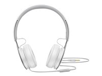 Beats EP - Hodetelefoner med mikrofon - on-ear - kablet - 3,5 mm jakk - lydisolerende - hvit - for 10.5-inch iPad Pro; 12.9-inch iPad Pro; 9.7-inch iPad; 9.7-inch iPad Pro; iPad; iPad 1; 2; iPad Air; iPad Air 2; iPad mini; iPad mini 2; 3; 4; iPad with Retina display; iPhone 3G, 3GS, 4, 4S, 5, 5c, 5s, 6, 6 Plus, 6s, 6s Plus, SE; iPod classic; iPod nano; iPod shuffle (4G); iPod touch ML9A2ZM/A