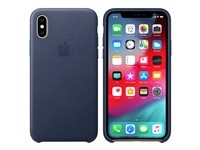 Apple - Baksidedeksel for mobiltelefon - lær - midnattsblå - for iPhone Xs Max MRWU2ZM/A