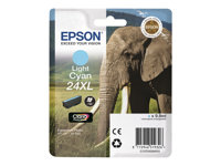Epson 24XL - 9.8 ml - XL - lys cyan - original - blære med RF/lyd-alarm - blekkpatron - for Expression Photo XP-55, 750, 760, 850, 860, 950, 960; Expression Premium XP-750, 850 C13T24354020