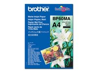 Brother BP 60MA Matte Inkjet Paper - Matt - A4 (210 x 297 mm) - 145 g/m² - 25 ark papir - for Brother DCP-J572, J577, J772, J774, J973, MFCJ6530, MFC-J837, J890, J893, J895, J997 BP60MA
